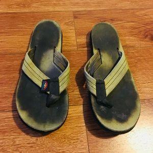Rainbow leather sandals